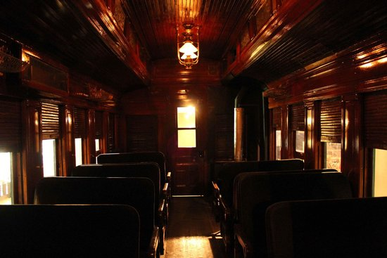 Exporail, the Canadian Railway Museum: Inside one of the older wooden passenger cars
