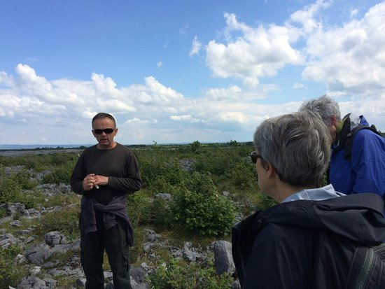 Heart of Burren Walks: Tony leading the group