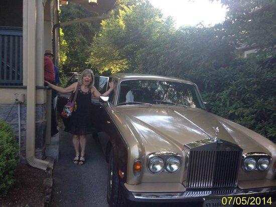 1900 Inn on Montford: Dinner Transportation in the Rolls