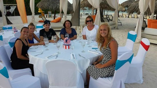 Paradisus Palma Real Golf & Spa Resort: Awesome 4th of July Dinner