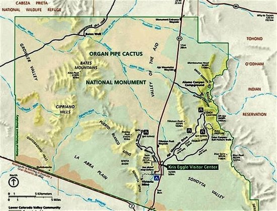 National Monument map - Picture of Ajo Mountain Drive, Arizona ...