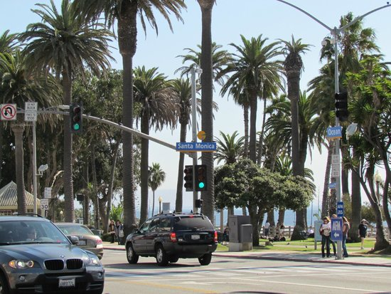 Ocean Avenue : Corner of Ocean and Santa Monica