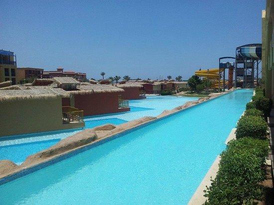 Titanic Beach Spa & Aqua Park : View from our little pool patio