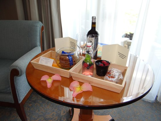 The Ritz-Carlton, Half Moon Bay: Our mother's day welcome amenities