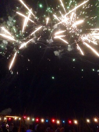 Playa Grande Resort: fireworks at 4th of July beach party