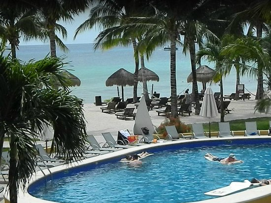 """Secrets Aura Cozumel : View to left from """"Tropical View"""" Room Balcony"""