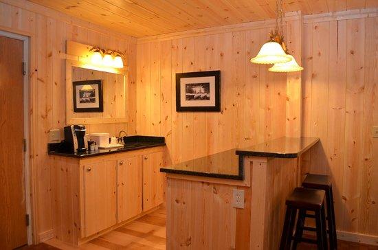 Reid Ridge Lodge: Master Suite Wet Bar Area