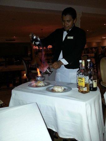Valentin Imperial Maya: Baked Alaska at the French restaurant