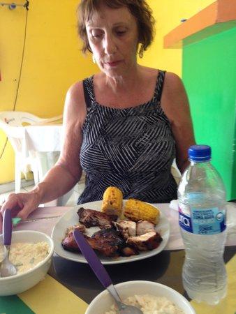 Ferron's Jerk Chicken: Not too Hot for Linda!