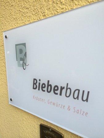 Restaurant Bieberbau : Sign in front