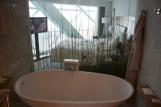 Hyatt Capital Gate : Bathroom looking into room