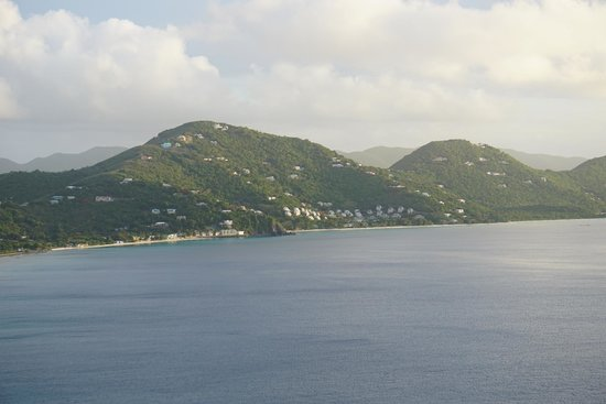 The Heritage Inn: View from room toward Tortola