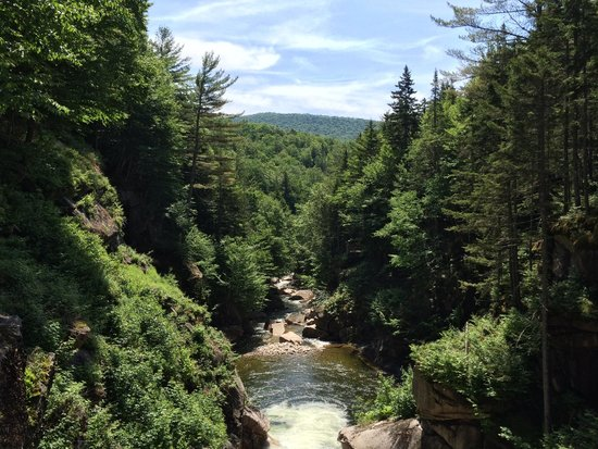 Franconia Notch State Park: A view from the covered bridge on the Flume Gorge hike
