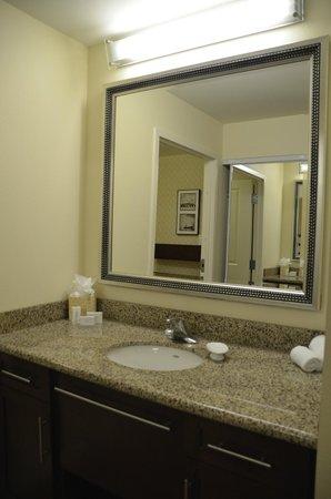 Residence Inn Norfolk Downtown : Vanity area off the bathroom