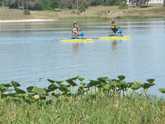 Avon Park, FL: Take ride around the lake on Hydrobikes. Sight Unseen Enterprises rents watercrafts on the weeke