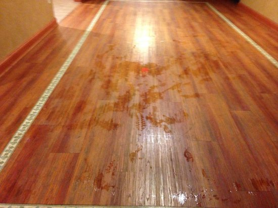 Country Inn & Suites by Radisson, Hagerstown, MD: Main floor saturated from people walking from pool