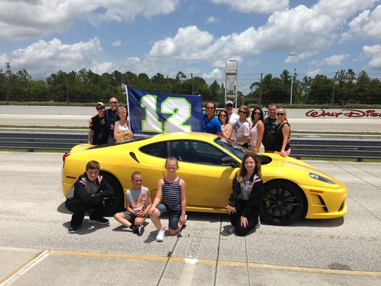 Photo With The Ferrari Picture Of Exotic Driving Experience Orlando Tripadvisor