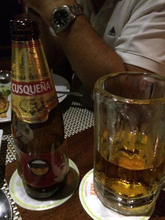 Lima 12 05 Peruvian Cuisine & Steak House: Tasty beer from Peru
