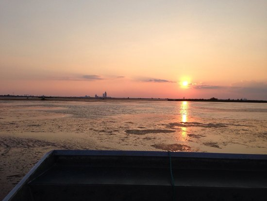 Airboat Express - Tours: Sunset on the Delta.