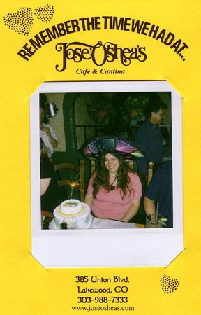 Birthday celebrations at Jose O'Sheas come with cake,sparklers, and a picture in a sombrero