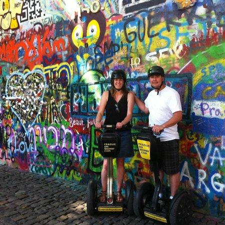 Prague On Segway : John Lennon Wall