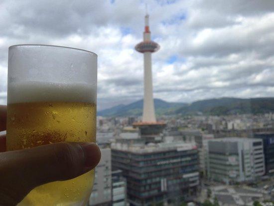 Moritaya JR Kyotoisetanten: 京都タワーを見ながらの食事