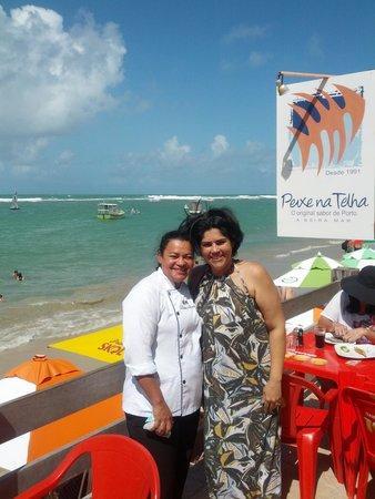 Chef Elita Marques com a renomada Chef do peixe na telha Célia Soares