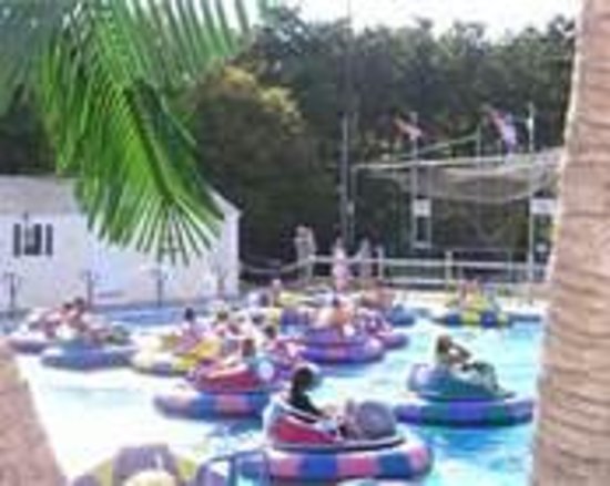 Cape Cod Baseball & Bumper Boats: view from the sitting area (bench)