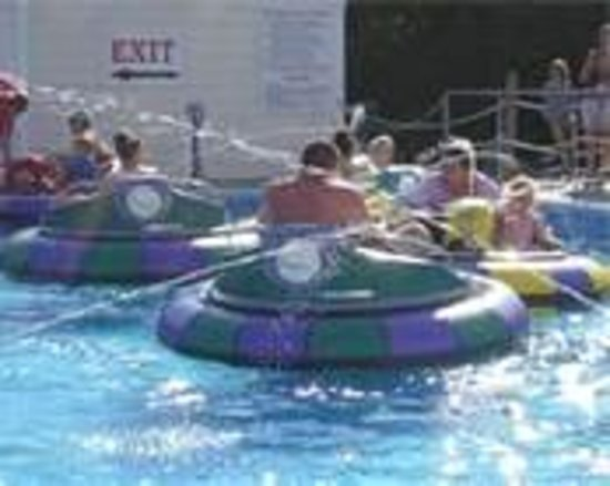 Cape Cod Baseball & Bumper Boats: boats have a sprayer to shoot others!