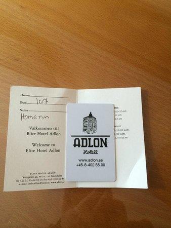 Elite Hotel Adlon: ключ