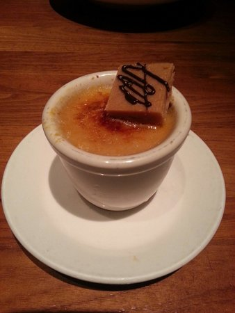 "Jasper's : The ""cherry on top"" of the evening, butterfinger creme Brule"