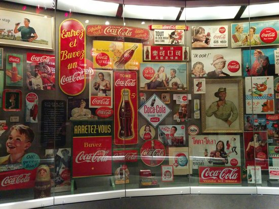 World of Coca-Cola: Wall of merchandise