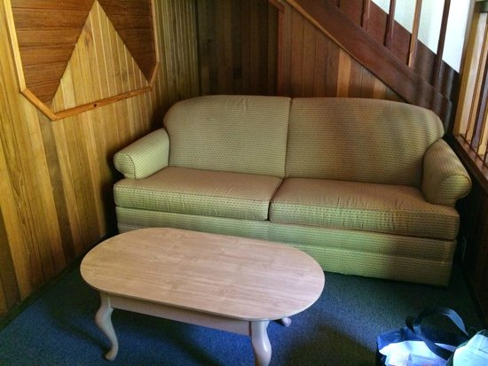 Mountain Retreat Resort: Sofa bed on the first level entrance (little nook under the stairs are the kids' favorite)