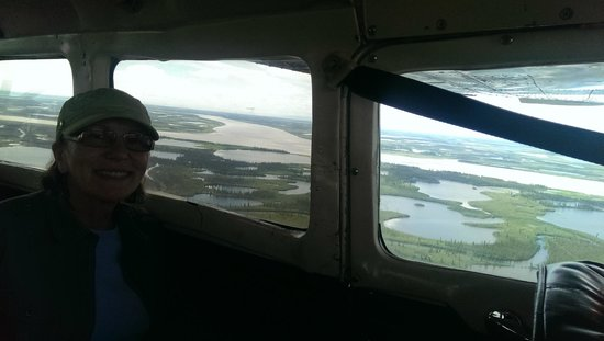 Tundra North Tours: Mackenzie Delta from the air.