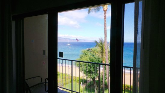 Kaanapali Beach Hotel: view from our room in the Kauai wing