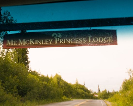 Mt. McKinley Princess Wilderness Lodge: headed up the drive to the lodge