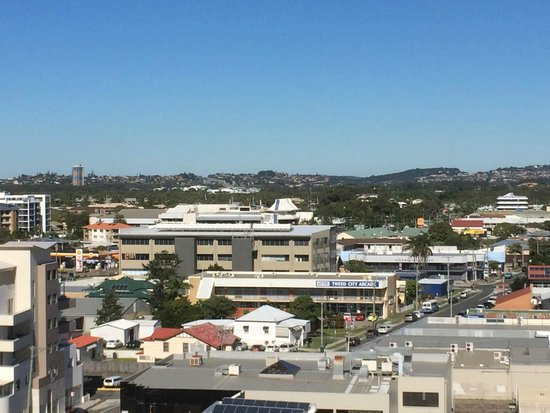 Tweed Ultima Resort Gold Coast: View from Balcony to Tweed Bowls Club