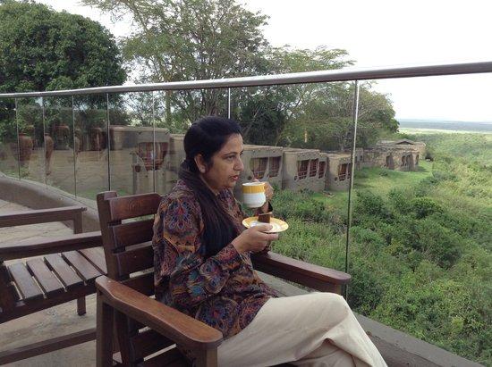 Mara Serena Safari Lodge: View of the rooms etc.