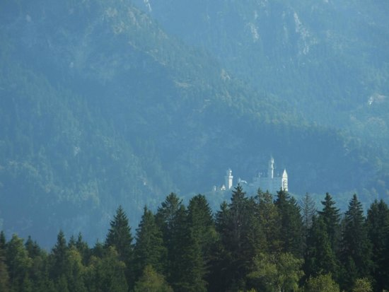 Neuschwanstein Castle: Neuschwanstein from the Train