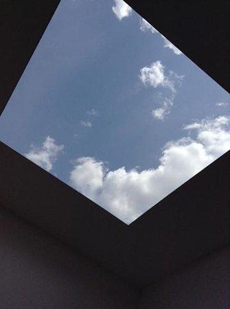 Minneapolis Sculpture Garden: view from inside Sky Pesher