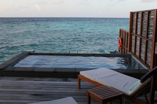 Four Seasons Resort Maldives at Landaa Giraavaru: Pool at Sunrise water bungalow