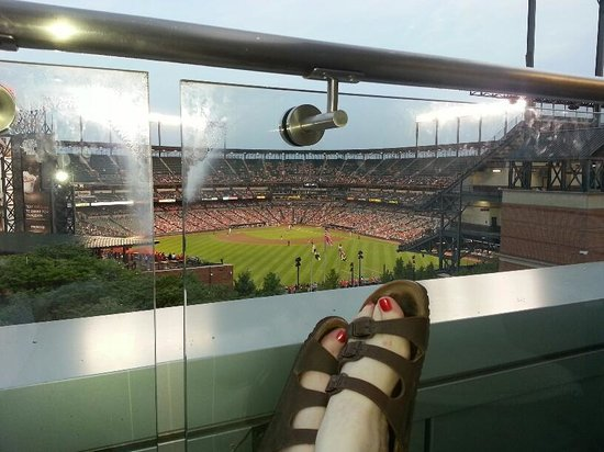 Oriole Park at Camden Yards : View from a nearby hotel