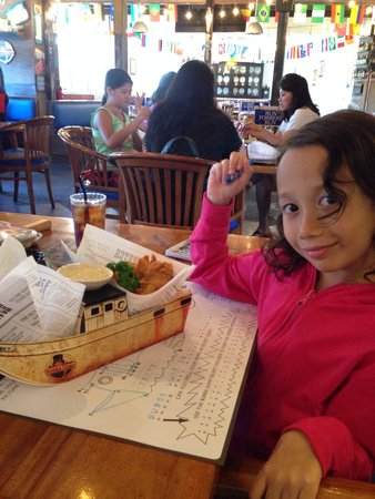 Bubba Gump Shrimp: Fish and chip from the kids menu come with the ship