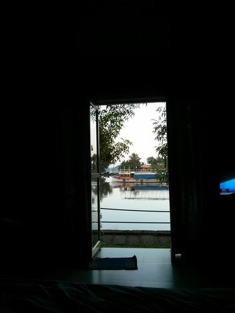 Riverine Resort : View from inside the room !