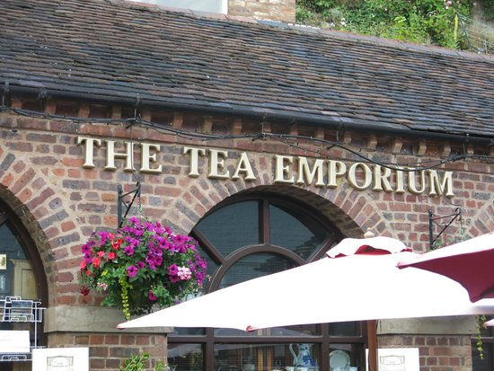 Outside The Tea Emporium- Iron Bridge - Shropshire