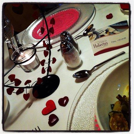 Alpin Panorama Hotel Hubertus: Il nostro tavolo