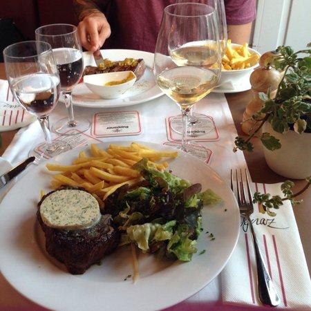 Ignaz | Brasserie: Roastbeef 200g & Flanksteak New York