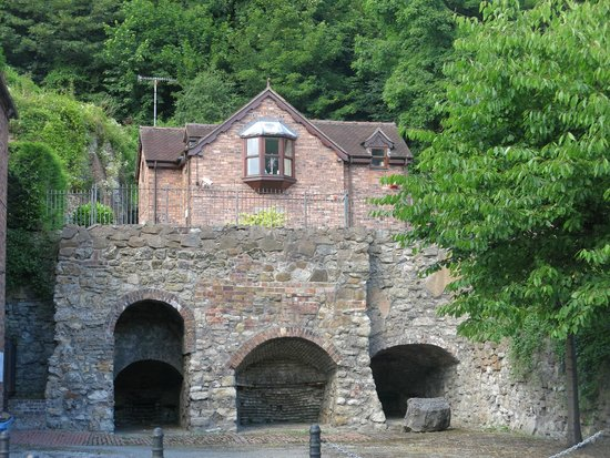 Ironbridge Gorge Museums: Private Residence built on foundations of Old Industrial Furnace- photo courtesy of Paul Rees Ju