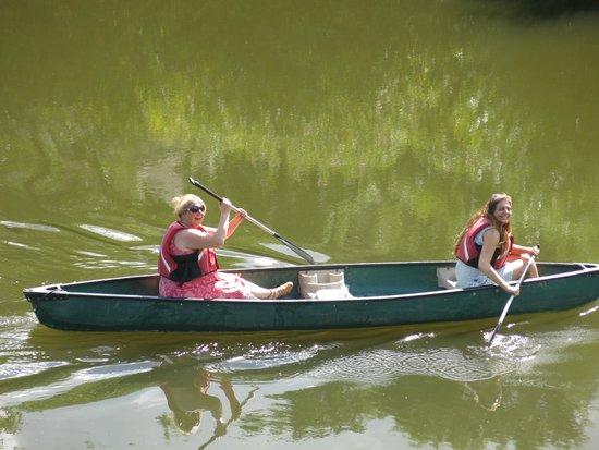 Ironbridge Gorge Museums: Random Photo Of  Couple Enjoying Canoeing Up the River Severn-Courtesy-Paul Rees 2014