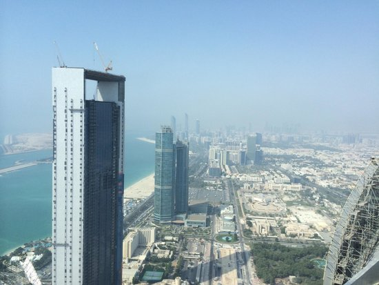 Jumeirah at Etihad Towers: View of the corniche and 'downtown' Abu Dhabi from Jumeirah Etihad Towers